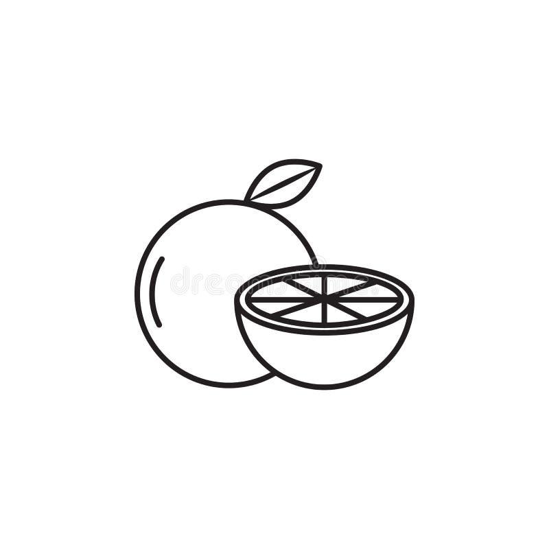 Icône d'orange de vecteur Élément de fruit de ferme illustration de vecteur
