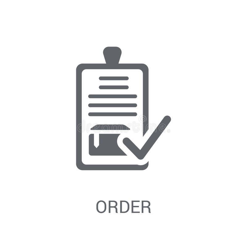 Icône d'ordre  illustration de vecteur