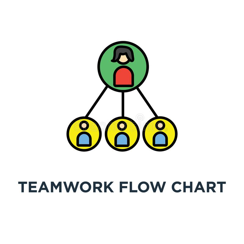 icône d'organigramme de travail d'équipe hiérarchie d'affaires ou conception de symbole de concept de structure de pyramide d'équ illustration stock