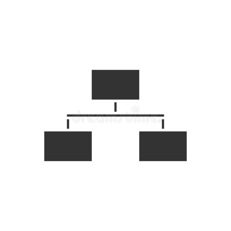 Icône d'organigramme plate illustration stock