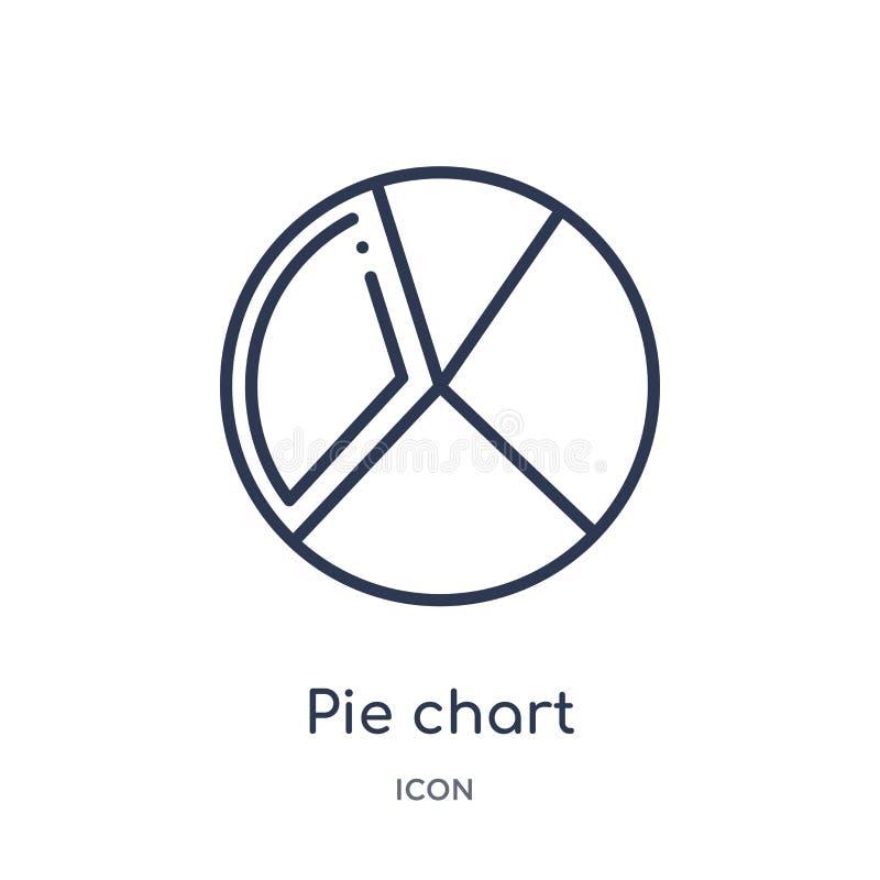 icône d'organisation de graphique circulaire de collection d'ensemble d'interface utilisateurs Ligne mince icône d'organisation d illustration de vecteur