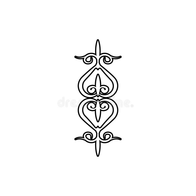 Icône d'ornement de coeur Élément des ornements pour le concept et l'icône mobiles d'applis de Web Ligne mince icône pour la conc illustration de vecteur