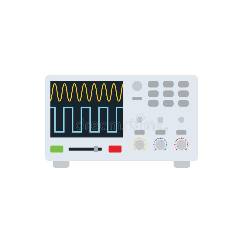 Icône d'oscilloscope illustration libre de droits