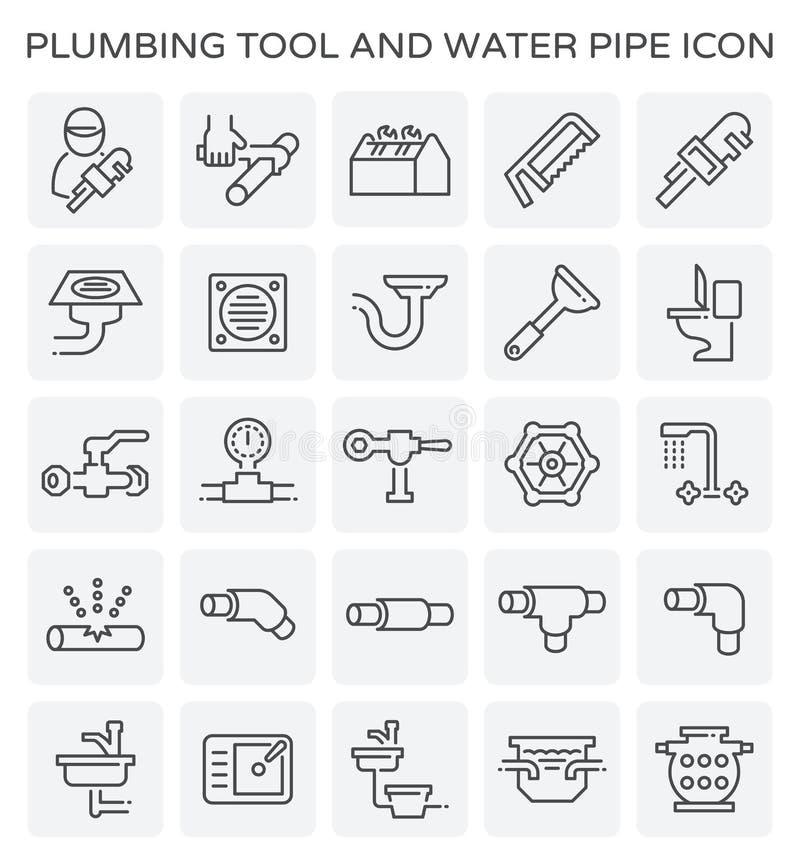 Icône d'outil de tuyauterie illustration libre de droits