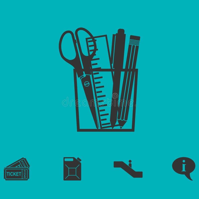 Icône d'outils de bureau à plat illustration de vecteur
