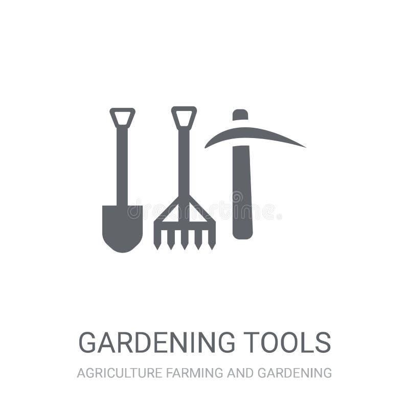Icône d'outils de jardinage  illustration libre de droits