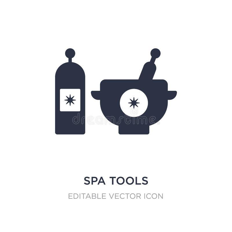 icône d'outils de station thermale sur le fond blanc Illustration simple d'élément de concept de beauté illustration stock