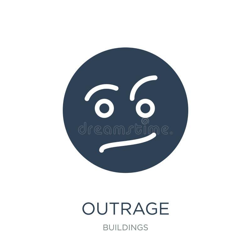 icône d'outrage dans le style à la mode de conception E symbole plat simple et moderne d'icône de vecteur d'outrage illustration libre de droits
