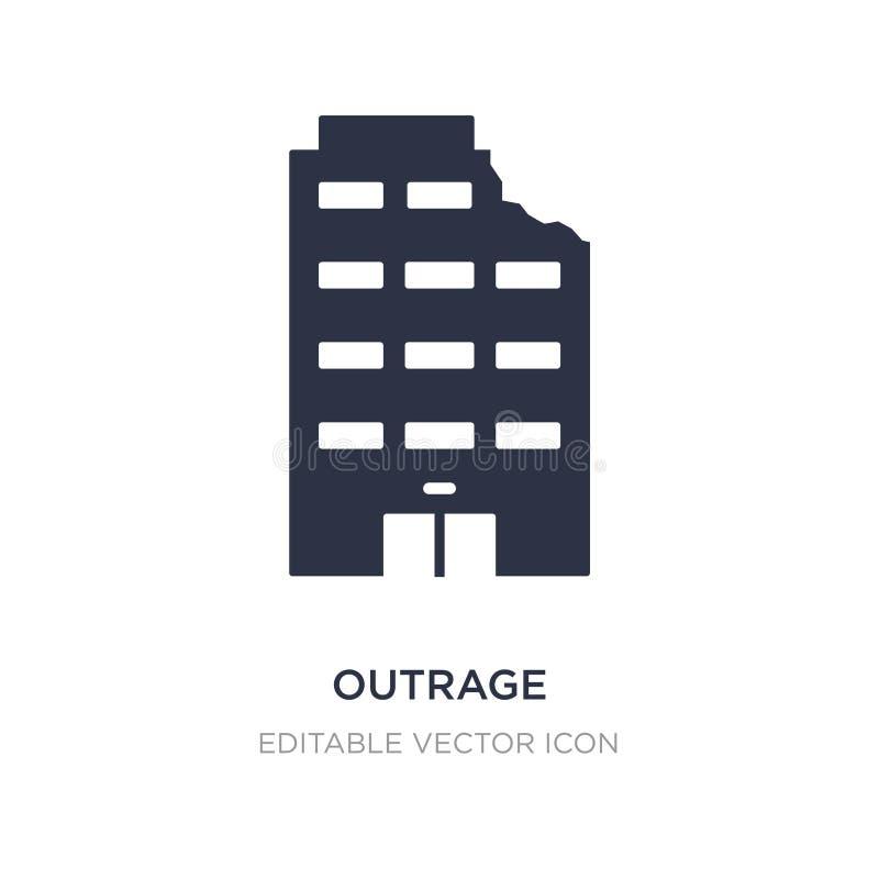 icône d'outrage sur le fond blanc Illustration simple d'élément de concept de bâtiments illustration de vecteur