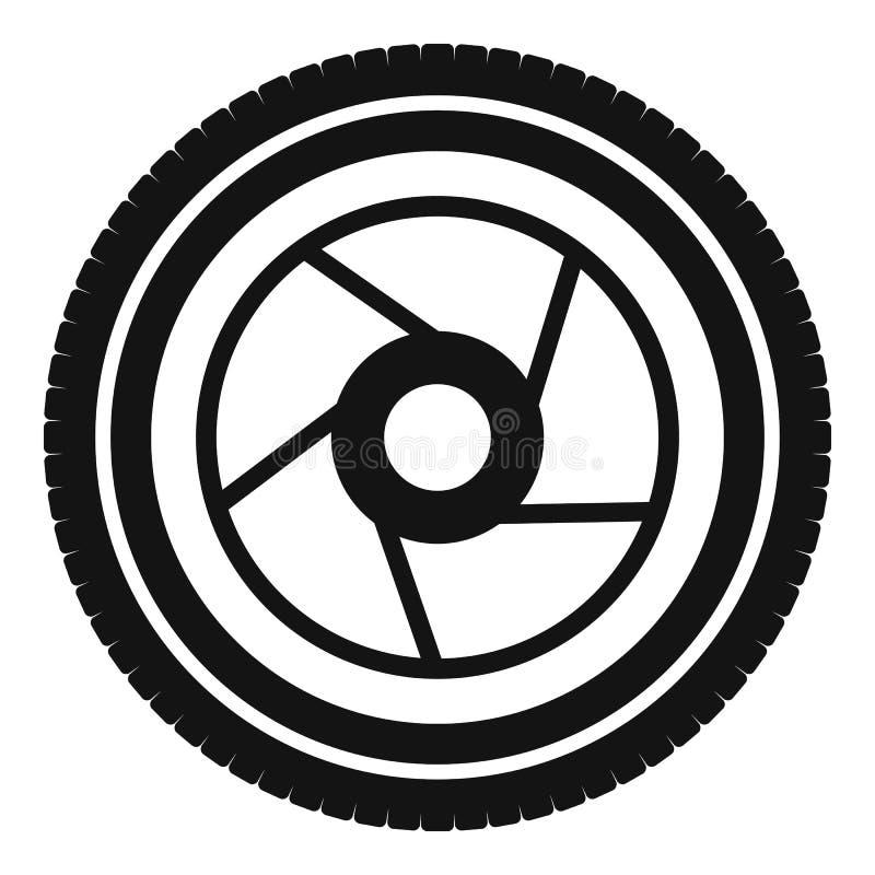 Icône d'ouverture d'appareil-photo, style simple illustration de vecteur