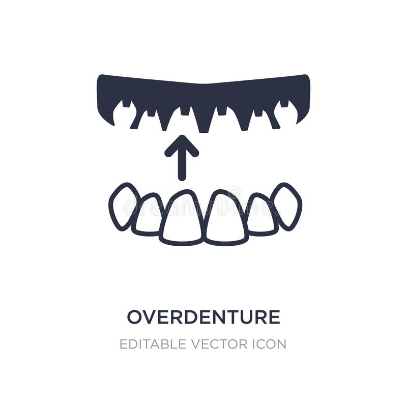 icône d'overdenture sur le fond blanc Illustration simple d'élément de concept de dentiste illustration stock