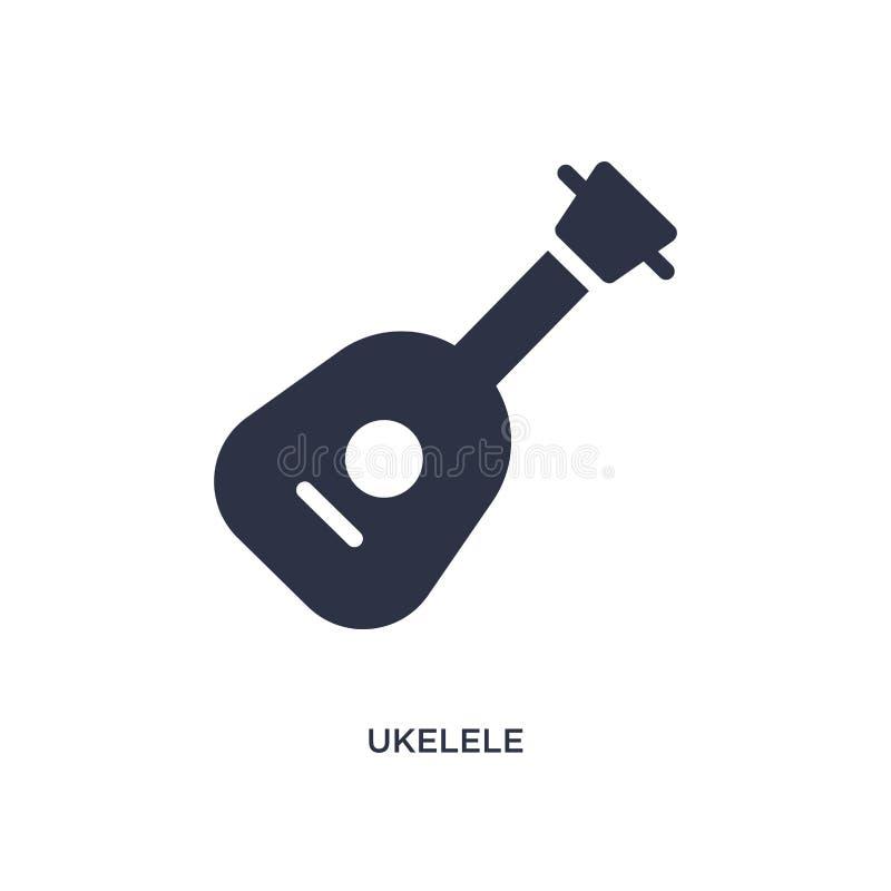 icône d'ukelele sur le fond blanc Illustration simple d'élément de concept de musique illustration libre de droits