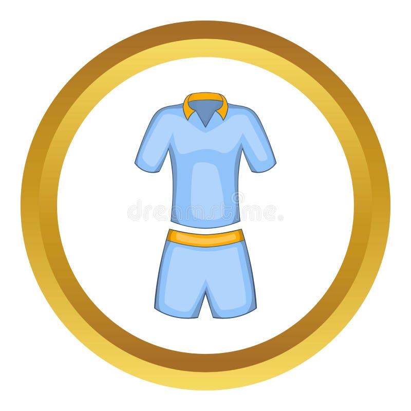 Icône d'uniformes de tennis d'hommes illustration stock