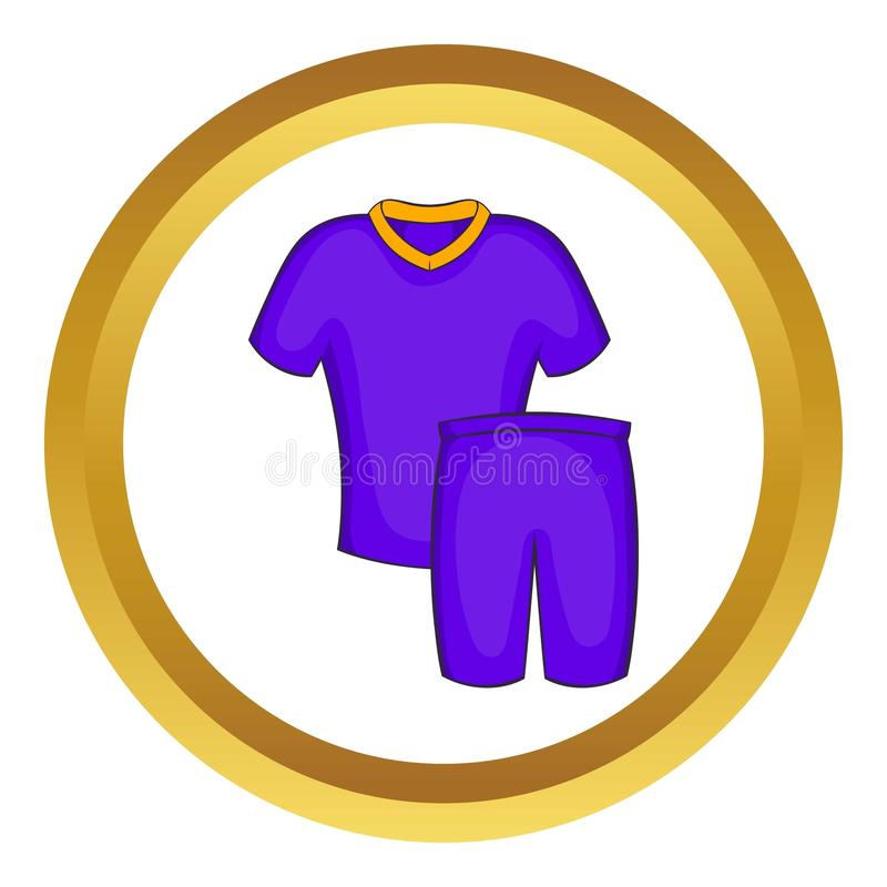 Icône d'uniformes du football illustration stock