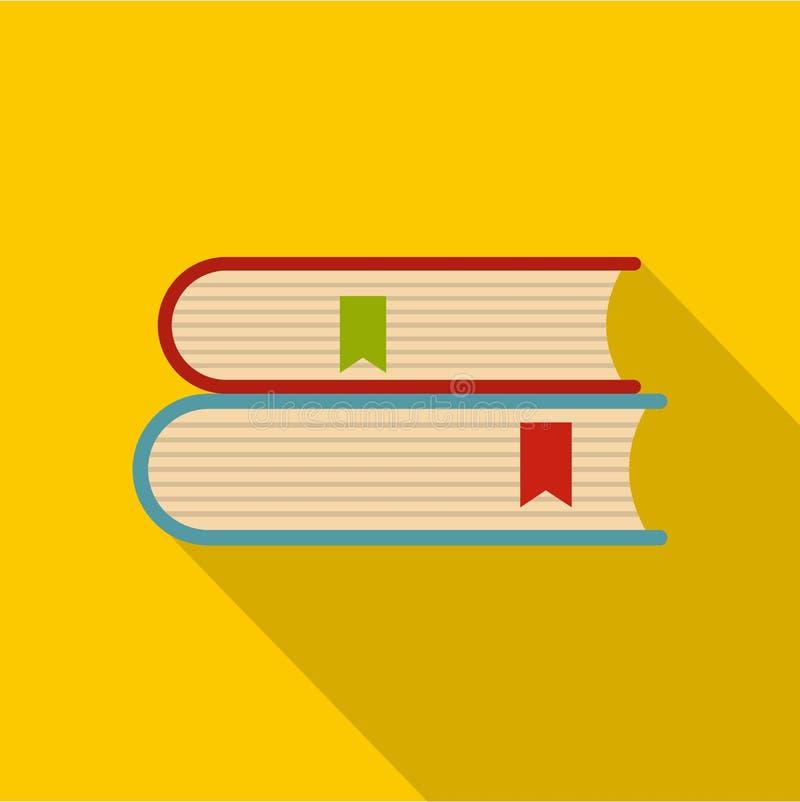 Icône d'université de livre, style plat illustration de vecteur