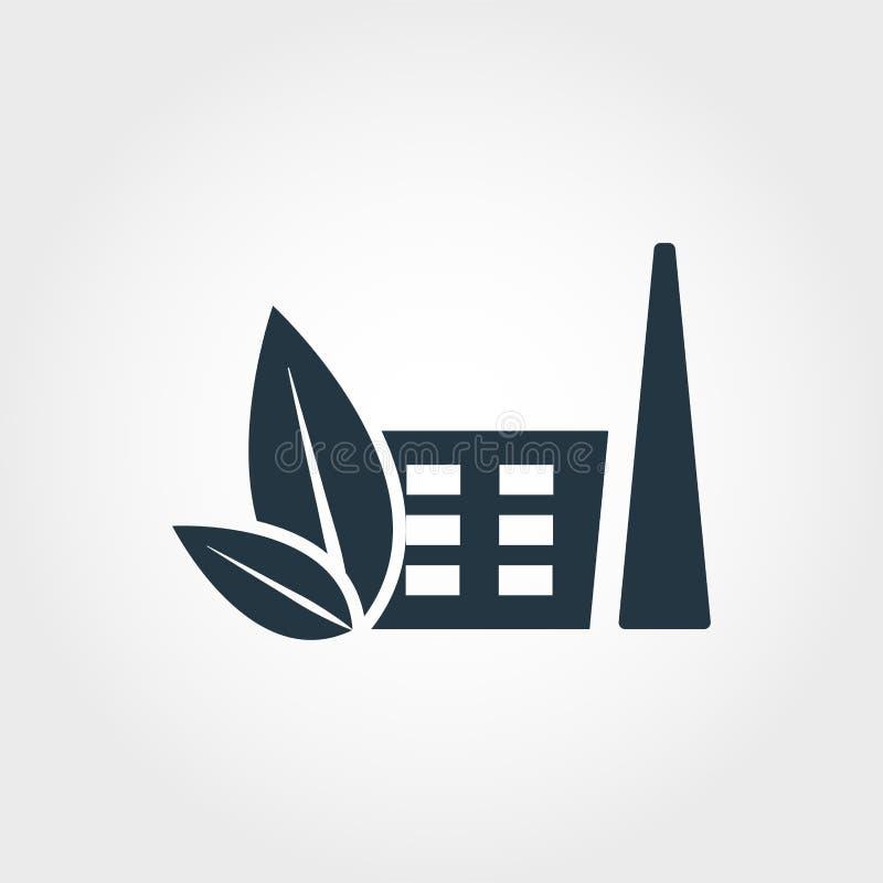 Icône d'usine d'Eco Conception monochrome de style de collection d'icône Ui Icône simple parfaite d'usine d'eco de pictogramme de illustration de vecteur