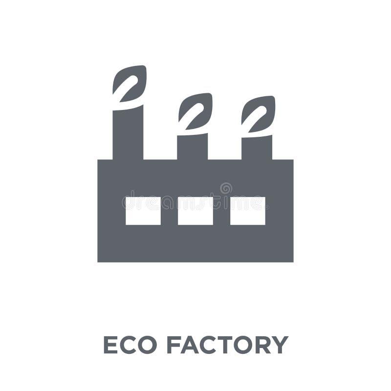 icône d'usine d'eco de collection d'écologie illustration de vecteur