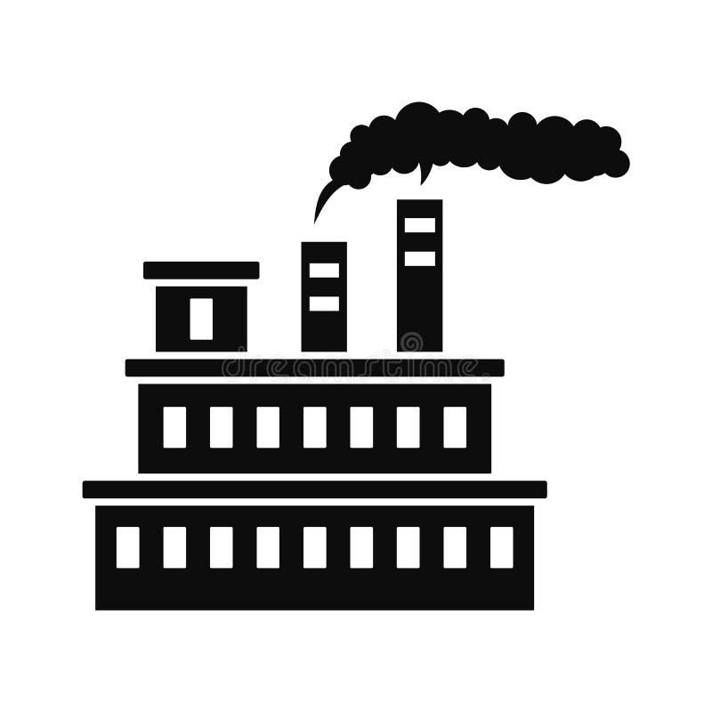 Icône d'usine d'Eco, style simple illustration stock
