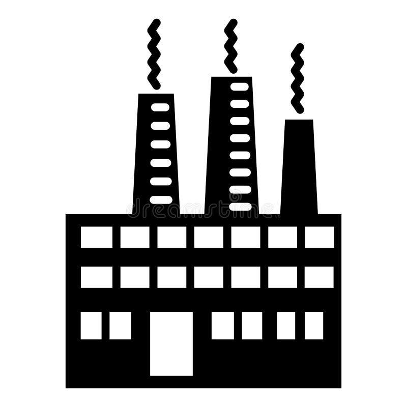 Icône d'usine d'Eco, style simple illustration libre de droits