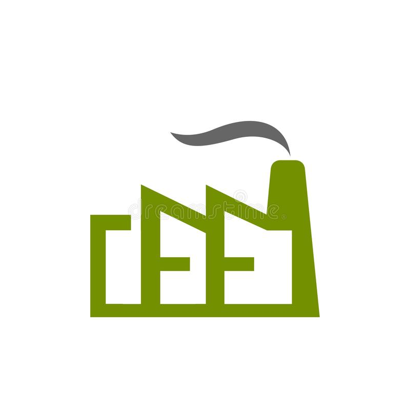 Icône d'usine d'isolement sur le fond blanc Icône d'usine dans le style à la mode de conception Symbole plat moderne et simple d' illustration libre de droits