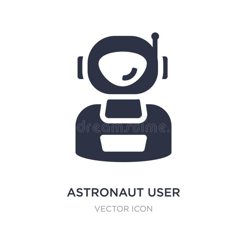 icône d'utilisateur d'astronaute sur le fond blanc Illustration simple d'élément de concept d'astronomie illustration libre de droits