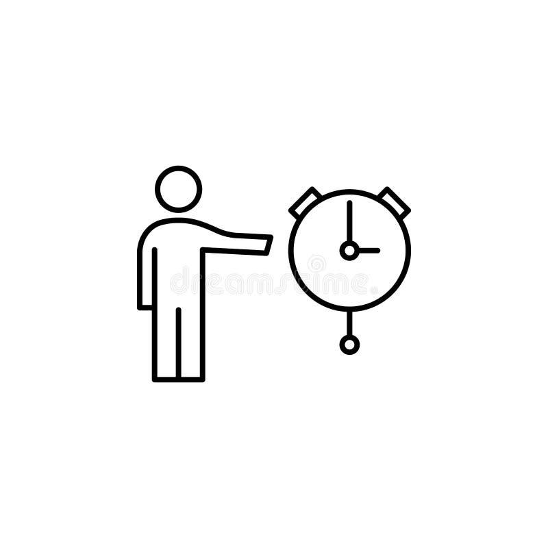 icône date, heure Élément d'icône professionnelle pour le concept mobile et les applications Web La date de la ligne, l'icône Heu illustration stock