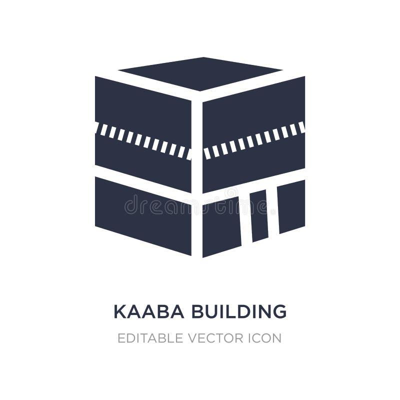 icône de bâtiment de kaaba sur le fond blanc Illustration simple d'élément de concept de monuments illustration stock
