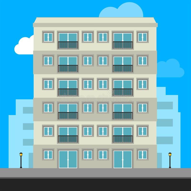 Icône de bâtiments et icône de bureau - illustration d'actions d'illustration illustration libre de droits
