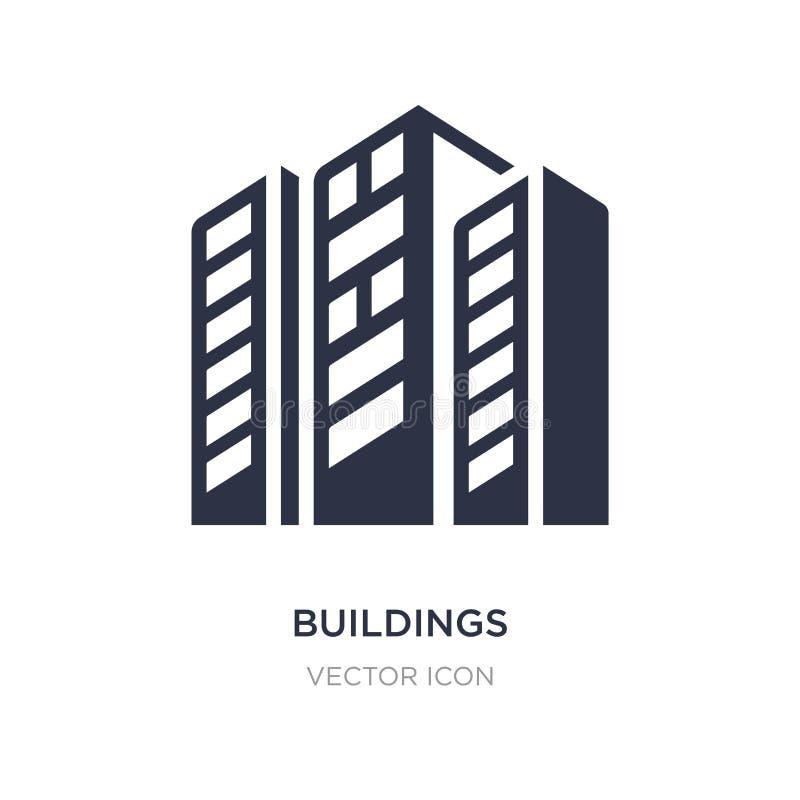 Icône de bâtiments sur le fond blanc Illustration simple d'élément de concept d'économie de Digital illustration libre de droits