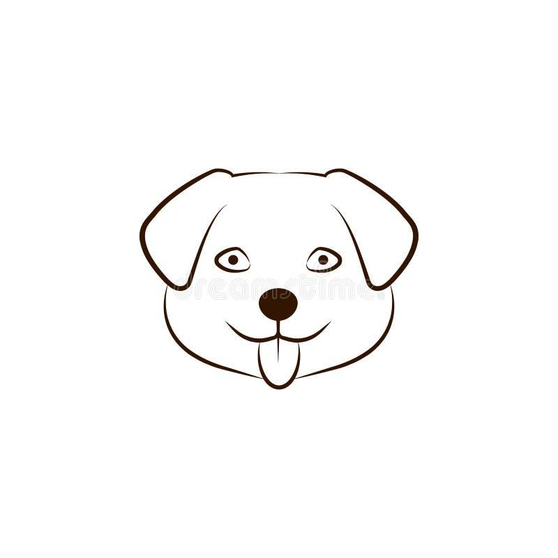 Icône de bébé de mastiff tibétain Une des races de chien remettent l'icône d'aspiration illustration libre de droits