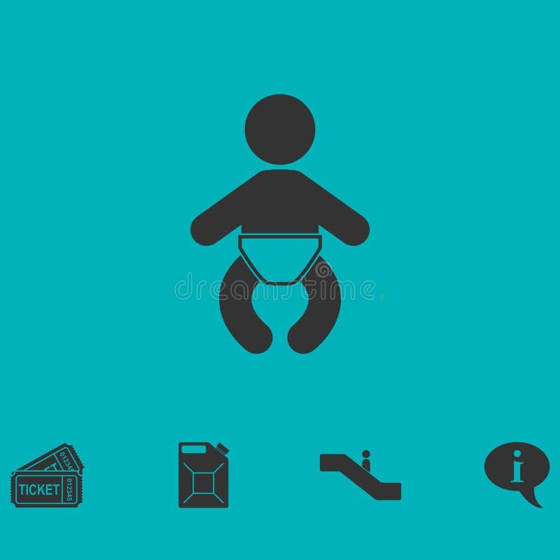 Icône de bébé plate illustration libre de droits