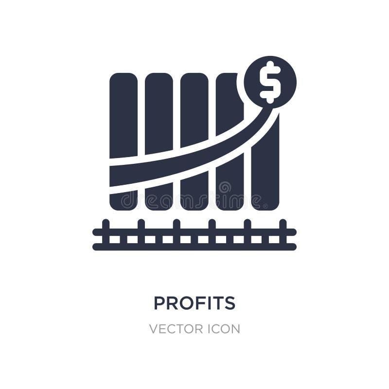 icône de bénéfices sur le fond blanc Illustration simple d'élément de concept d'économie de Digital illustration de vecteur