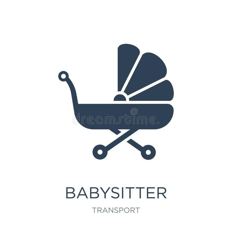 icône de babysitter dans le style à la mode de conception icône de babysitter d'isolement sur le fond blanc icône de vecteur de b illustration stock