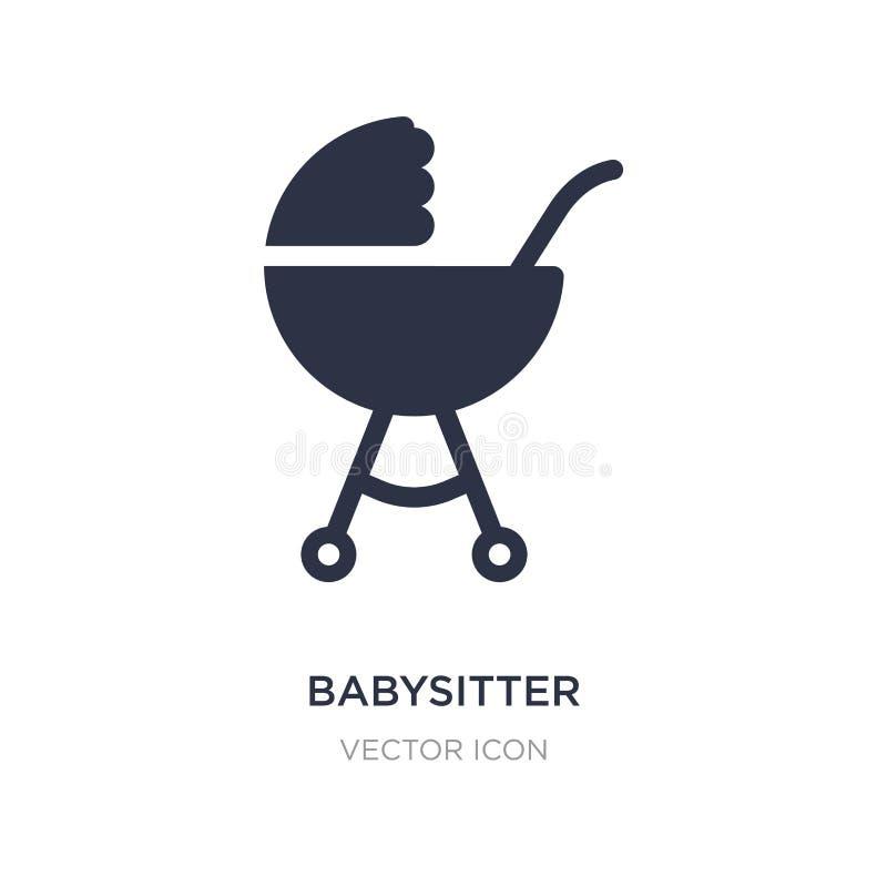 icône de babysitter sur le fond blanc Illustration simple d'élément de concept de transport illustration libre de droits