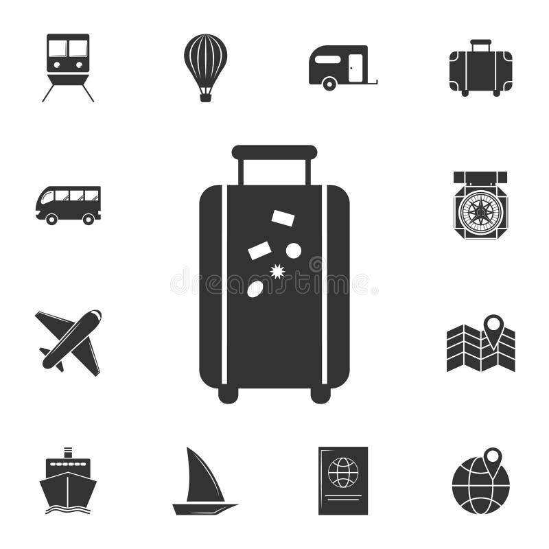 Icône de bagage Ensemble détaillé d'icônes de voyage Conception graphique de la meilleure qualité Une des icônes de collection po illustration libre de droits
