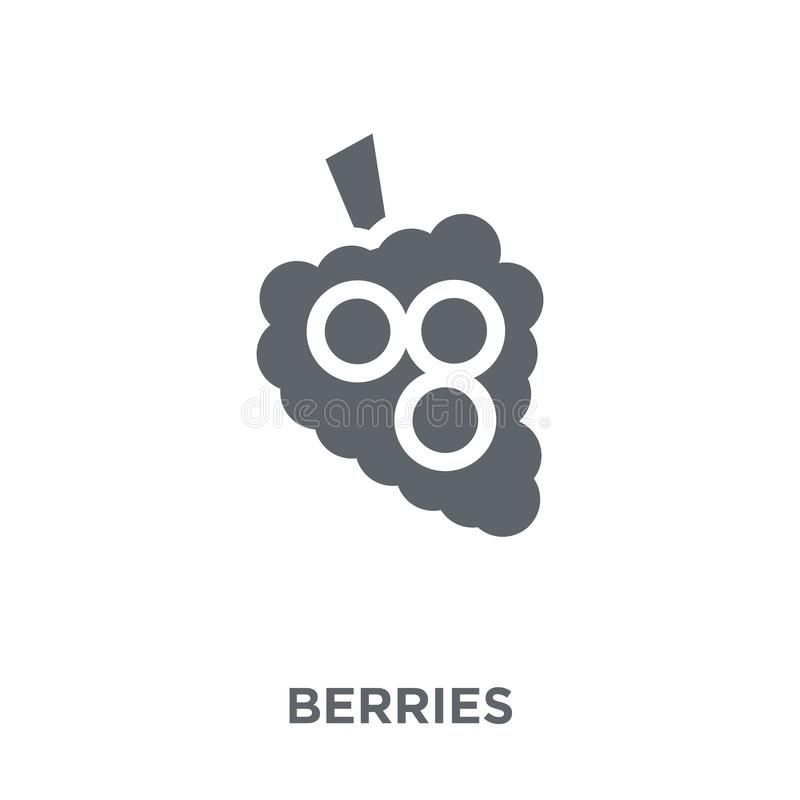 Icône de baies de collection de fruits et légumes illustration de vecteur