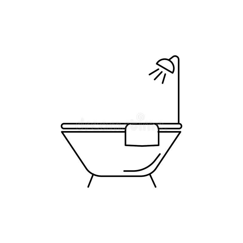 Icône de baignoire illustration de vecteur