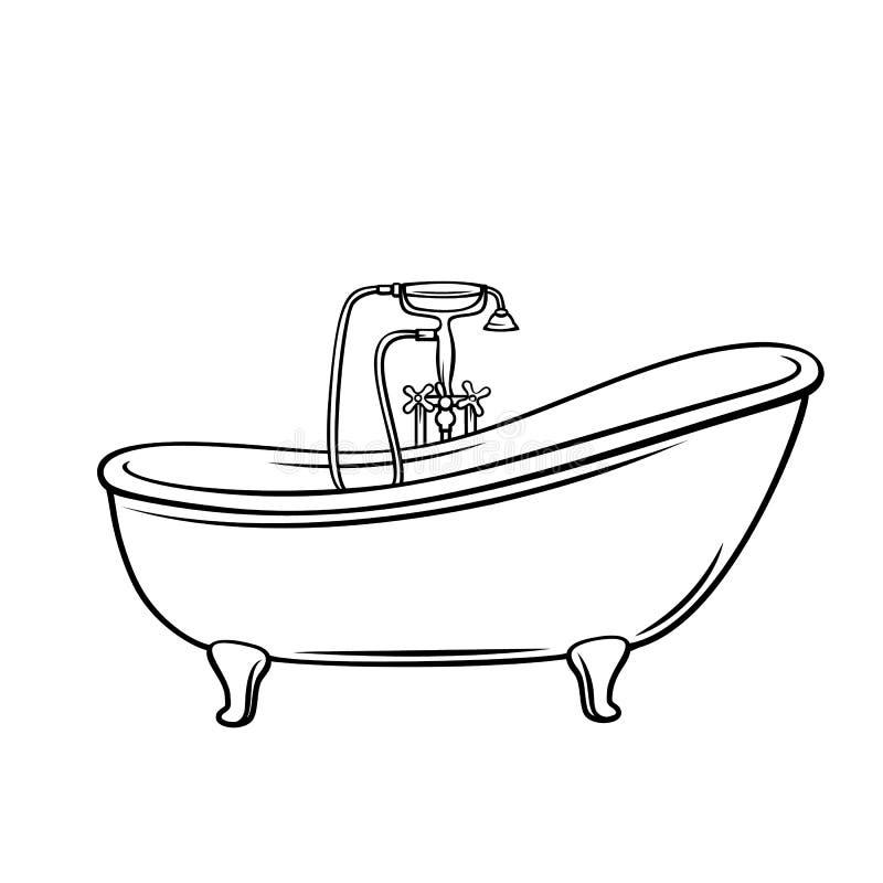 Icône de baignoire d'ensemble illustration stock