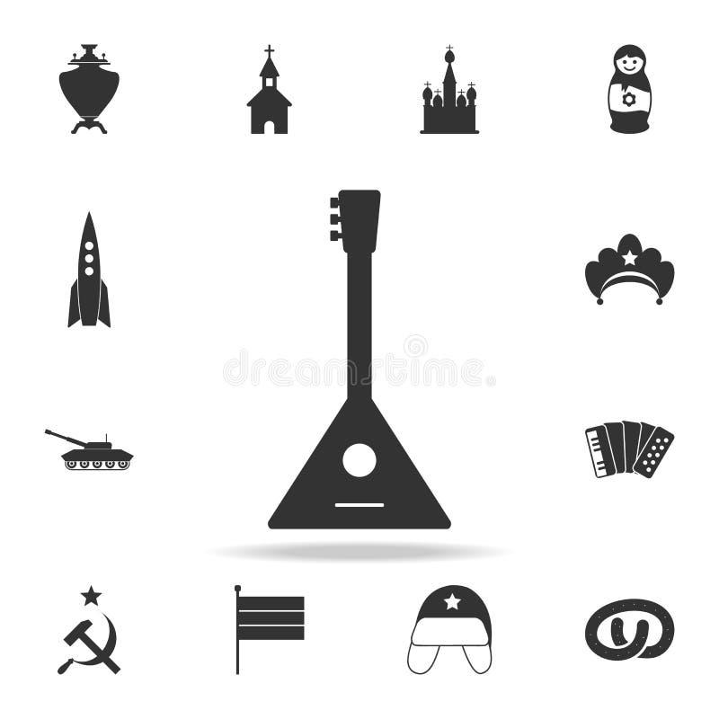 Icône de balalaïka Ensemble détaillé d'icônes de culture russe Conception graphique de la meilleure qualité Une des icônes de col illustration stock