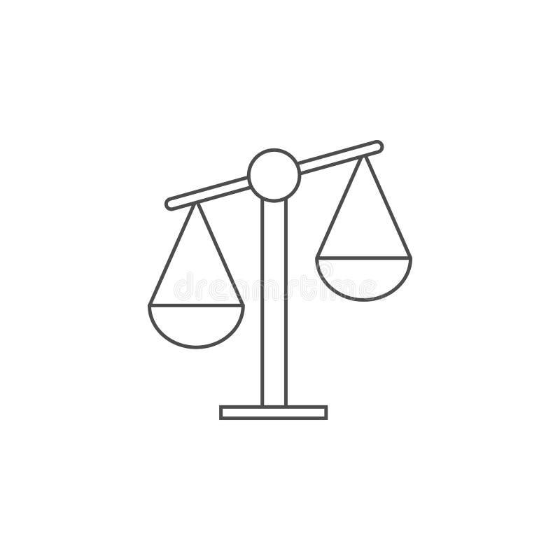 Icône de Balance Élément pour les apps mobiles de concept et de Web Ligne mince icône pour la conception de site Web et le dévelo illustration de vecteur