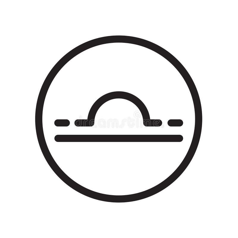 Icône de Balance d'isolement sur le fond blanc illustration libre de droits