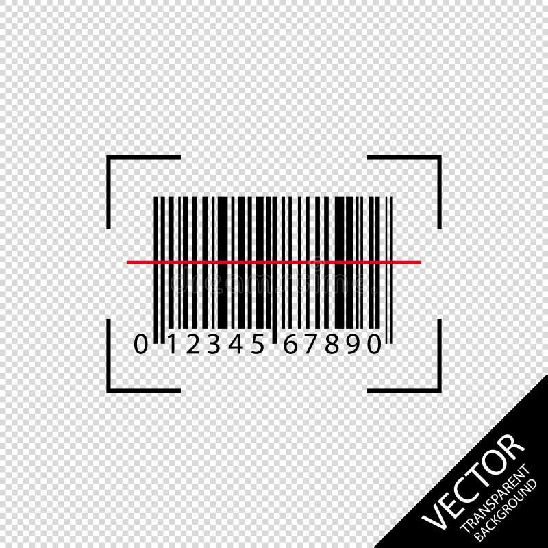 Icône de balayage de code barres - illustration de vecteur - d'isolement sur le fond transparent illustration stock