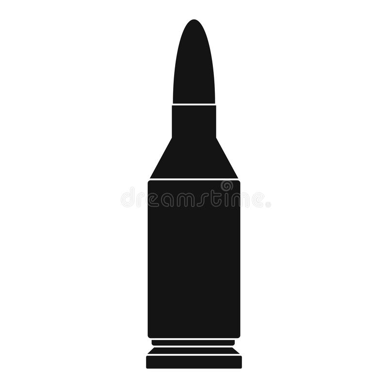Icône de balle, style simple illustration stock