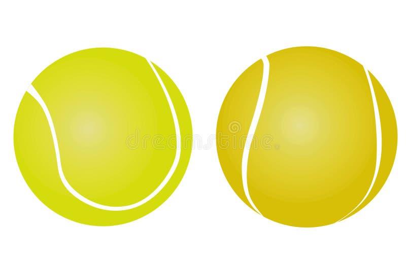 Icône de balle de tennis réglée sur le fond blanc illustration de vecteur