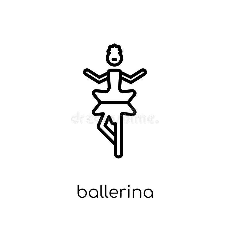 Icône de ballerine  illustration stock