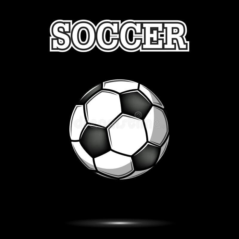Icône de ballon de football de cru illustration stock