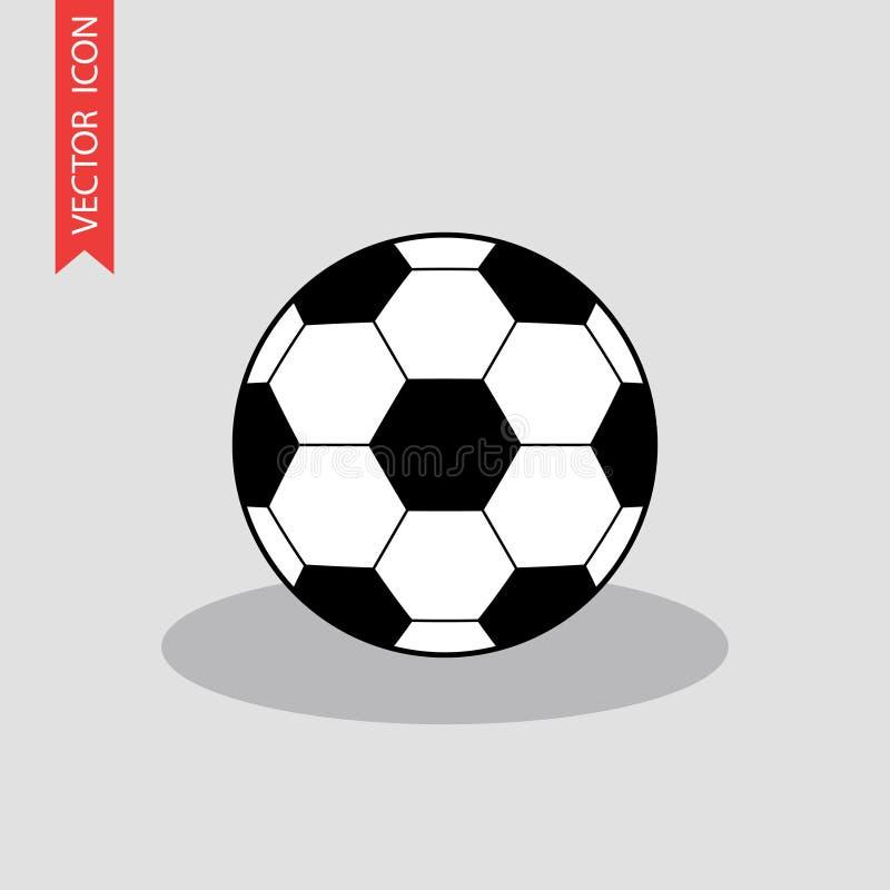 Icône de ballon de football Illustration plate de vecteur illustration de vecteur