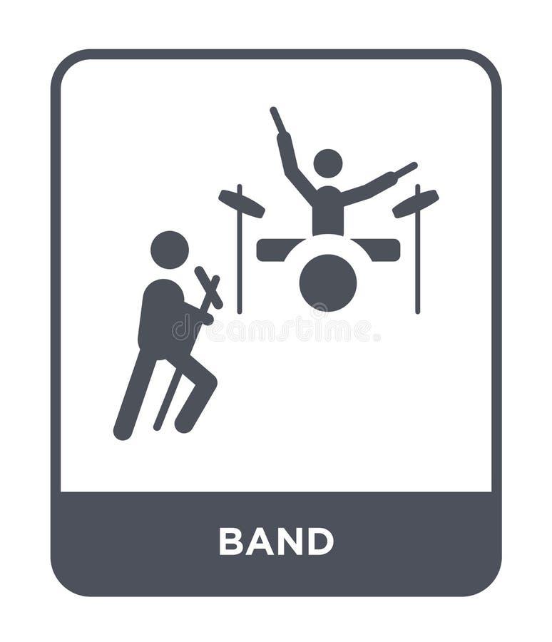 icône de bande dans le style à la mode de conception icône de bande d'isolement sur le fond blanc symbole plat simple et moderne  illustration de vecteur