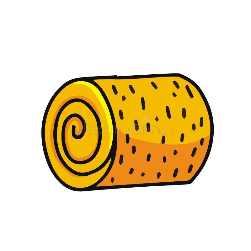 Icône de bande dessinée de meule de foin illustration de vecteur