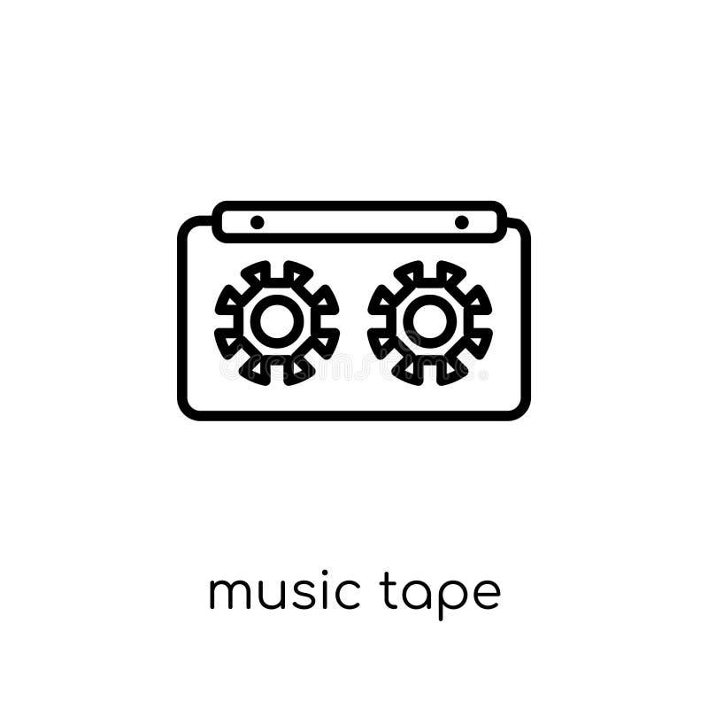 Icône de bande de musique Ico linéaire plat moderne à la mode de bande de musique de vecteur illustration stock